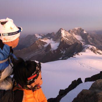 Sonnenaufgang Gipfel Cevedale Ortler