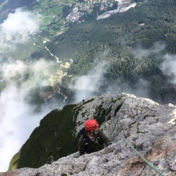 Alpinklettern Santner mit Bergführer Dolomiten