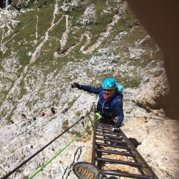 Klettersteig Dolomiten Piscadiu Bergführer